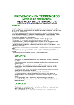 PREVENCION EN TERREMOTOS