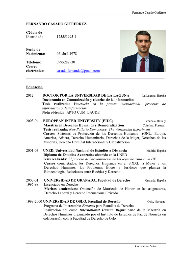 Excepcional Curriculum Vitae De Operador De Campo De Planta Friso ...