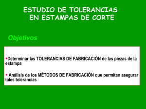 Tolerancias en estampas