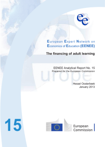 The financing of adult learning - European Expert Network on