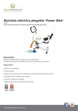 Bicicleta eléctrica plegable `Power Bike`