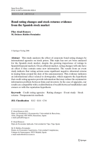 Bond rating changes and stock returns: evidence from the