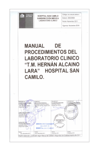 Manual de Laboratorio - Noticias Hospital San Camilo