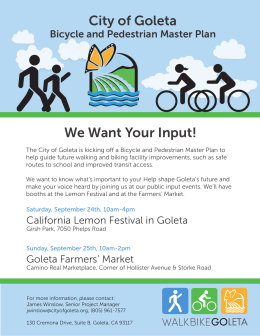 City of Goleta We Want Your Input!