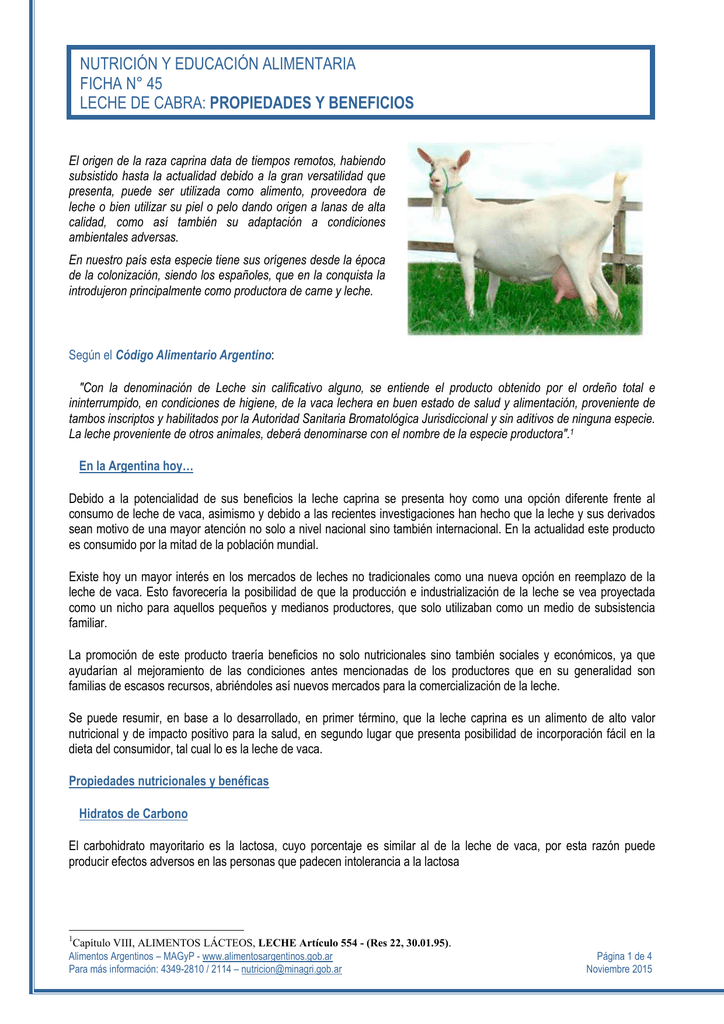 Leche de cabra y sus beneficios
