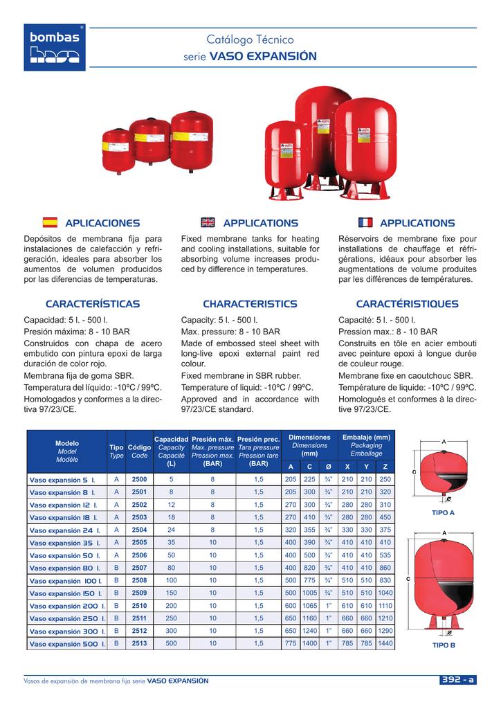 Vaso de expansi/ón hidroneum/ático para calefaci/ón de 8 litros de Watts