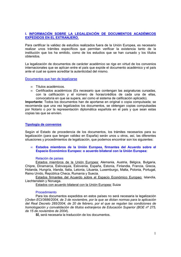 legalización y traducción de documentos