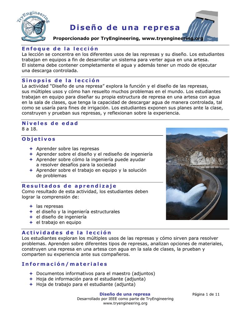 Diseño de una represa
