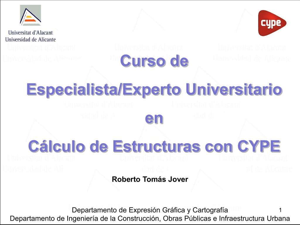 Diapositiva 1 Rua Universidad De Alicante