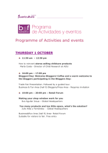 Programme of Activities and events