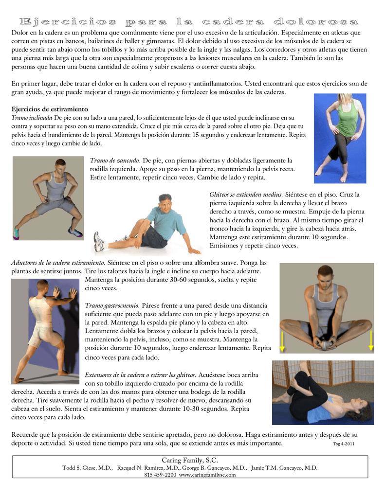 dolor en la cadera y pierna izquierda