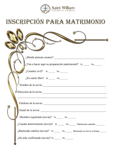 Inscripcion Matrimonial