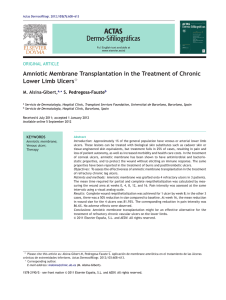 Amniotic membrane transplantation in the treatment