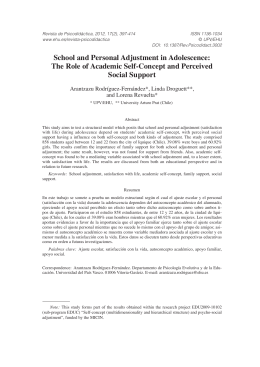 School and Personal Adjustment in Adolescence: The Role of