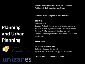 Planning and urban planning THEORY