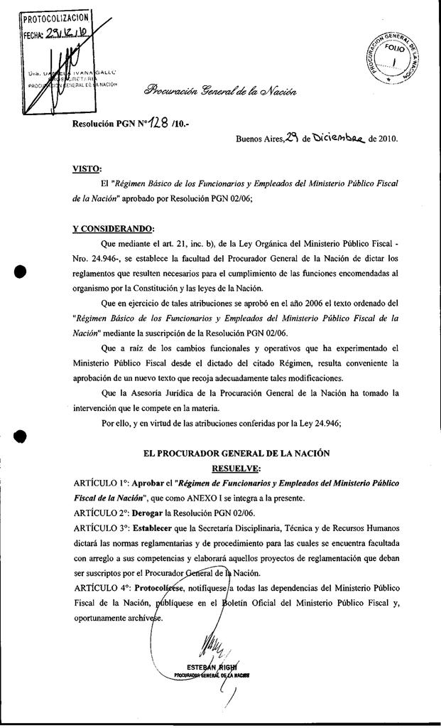 Pgn 128 10 Ministerio Público Fiscal