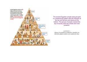The ancient Egyptian people were grouped in a hierarchical system