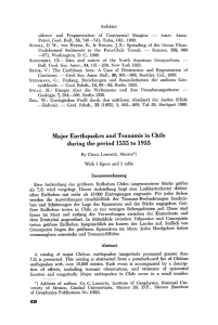 Major earthquakes and tsunamis in Chile during the period 1535 to