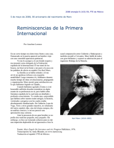 Reminiscencias de la Primera Internacional