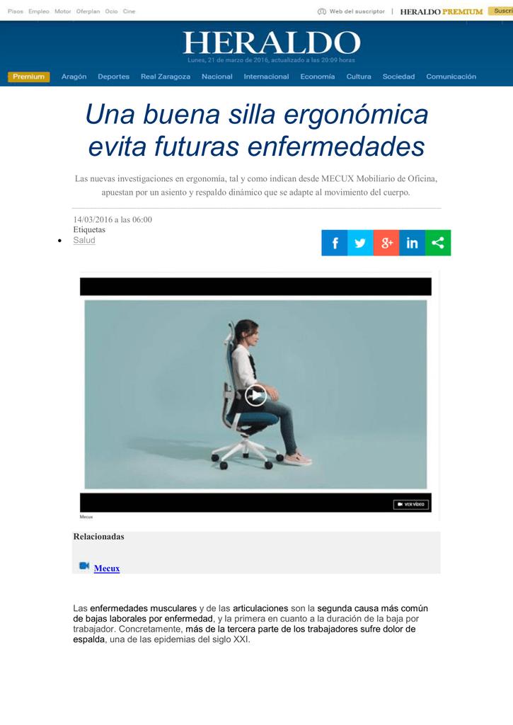 Una Evita Ergonómica Enfermedades Buena Silla Futuras hQCtrsdxBo