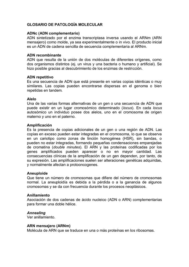 Metilación de DNA - Sociedad Española de Anatomía Patológica
