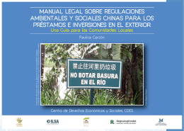 manual legal sobre regulaciones ambientales y sociales chinas