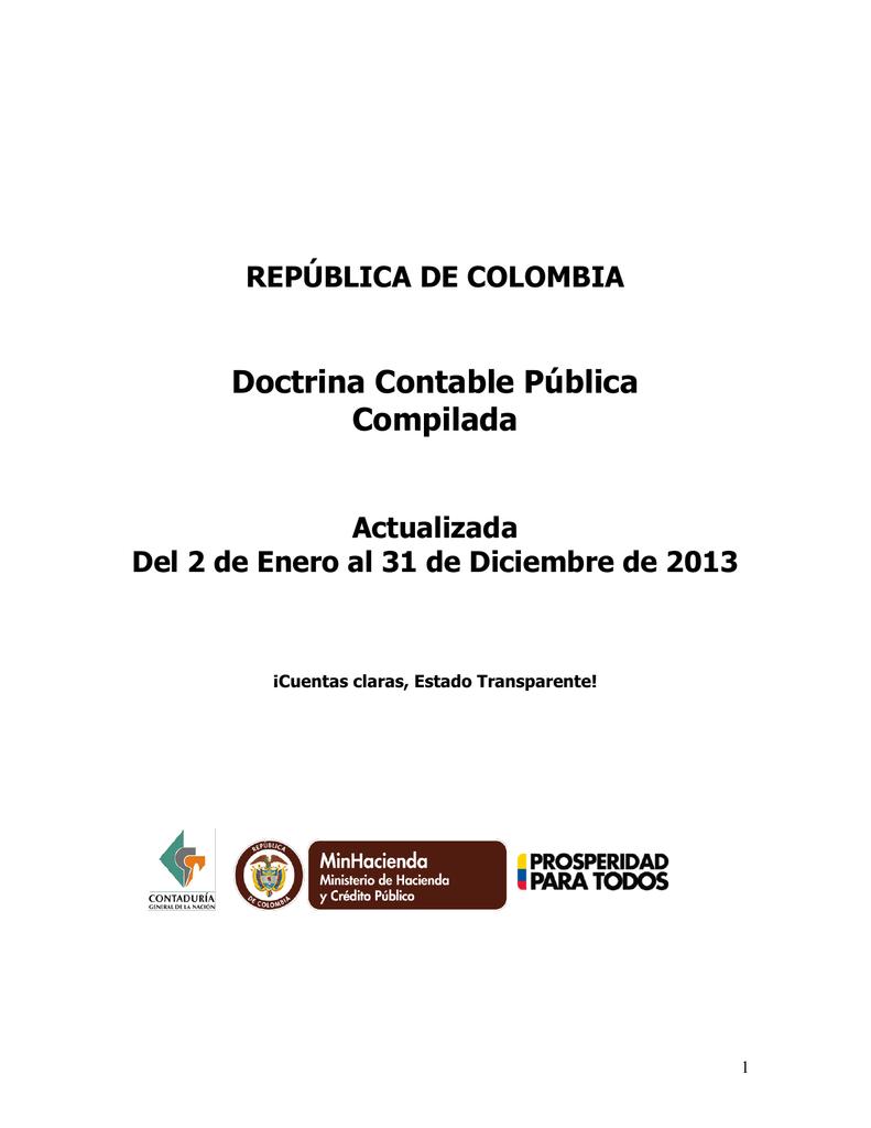 república de colombia - Contaduría General de la Nación