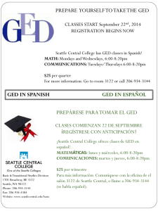 PREPARE YOURSELF TO TAKE THE GED