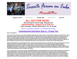 ALL OUT FOR GAZA! - Toronto Forum on Cuba