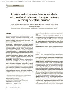 Pharmaceutical interventions in metabolic and nutritional follow