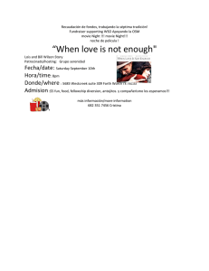 """When love is not enough"""