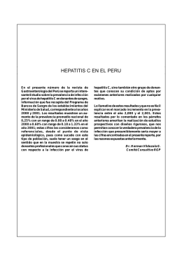 HEPATITIS C EN EL PERU