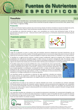 Más información - International Plant Nutrition Institute