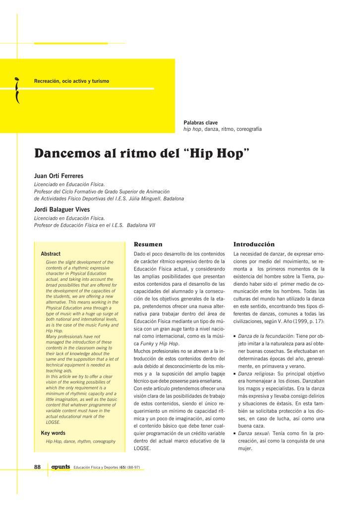 Dancemos Al Ritmo Del Hip Hop