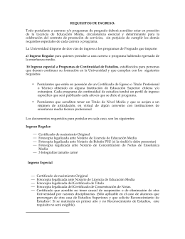 REQUISITOS DE INGRESO - Universidad de Aconcagua