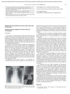 Multiple Pulmonary Embolisms caused by Acrylic Cement after