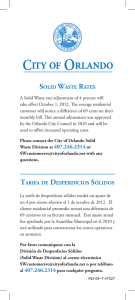 Solid WaSte RateS taRifa de deSpeRdicioS SólidoS
