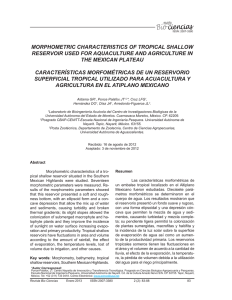 morphometric characteristics of tropical shallow reservoir used for