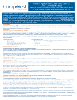 15491 MPN-Handout-Spanish - CompWest Insurance Company