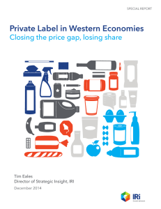 Private Label in Western Economies