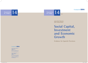 Social Capital, Investment and Economic Growth