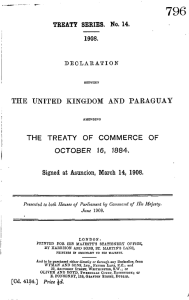 the united kingdom and paraguay the treaty of commerce of october