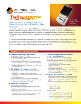TriStar MPPT Datasheet - Morningstar Corporation