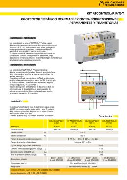 Iga test compact aplicaciones tecnol gicas for Protector sobretensiones permanentes y transitorias