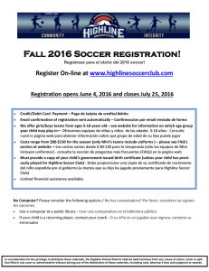 Fall 2016 Soccer registration!