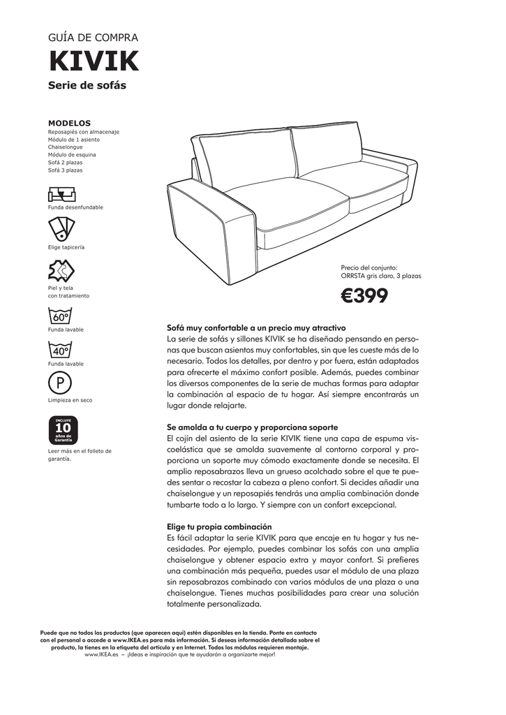 Pleasing Ikea Sofa Kivik 2 Plazas Chaise Longue Uwap Interior Chair Design Uwaporg