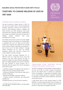 TOGETHER, TO CHANGE MILLIONS OF LIVES IN VIET NAM