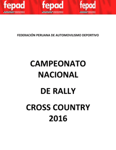campeonato nacional de rally cross country 2016