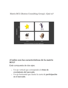 Matriz BCG BOSOTN CONSULTING GROUP