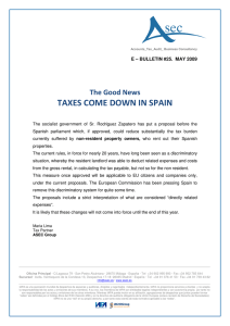taxes come down in spain
